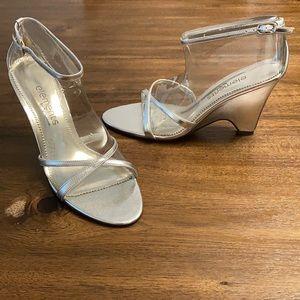 ELEMENTS BY NINA Women's Silver Wedge Sandal